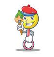 artist rattle toy character cartoon vector image