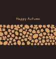 autumn background with leaves autumn background vector image vector image