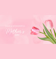 best mothers day template banner floral vector image vector image