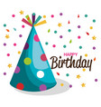 birthday hat party celebration vector image vector image