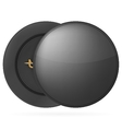 black round pin badge vector image vector image