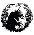 black silhouette template beauty unicorn vector image