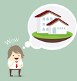 businessman is happy dream luxury house business vector image vector image