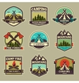 Camp label vector image