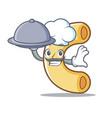 chef with food macaroni mascot cartoon style