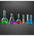 Chemical laboratory with chemicals in test tube vector image vector image