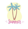 coconut palms on white background for design vector image vector image