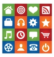 colored user interface pictograms set isolated vector image vector image