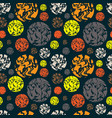 colorful seamless pattern with abstract circle vector image