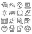 copywriting icons set on white background line vector image