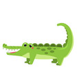 cute crocodile cartoon african animal kawaii vector image vector image