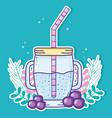 delicious summer juice vector image