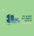 deposit box concept website landing page man vector image