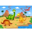 Dinosaurs cartoon vector | Price: 1 Credit (USD $1)