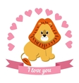 drawn by animal declaration of love vector image vector image