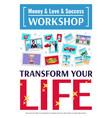 dreams workshop poster vector image vector image