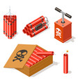 dynamite icons set vector image vector image