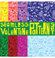 Eight colored seamless patterns with ornament with vector image vector image