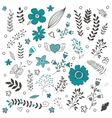 Elegant collection with flowers leaves and twigs vector image vector image