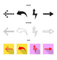 element and arrow sign set vector image vector image