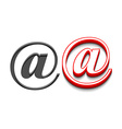 email sign design vector image vector image