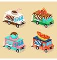 Food Truck Designs Set of vector image vector image