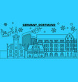 germany dortmund winter holidays skyline merry vector image vector image