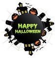 happy halloween icon vector image vector image