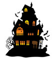 haunted house silhouette theme image 1 vector image vector image