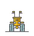 industrial machine tractor flat line vector image vector image