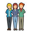 isolated partners group vector image vector image