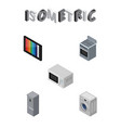 isometric appliance set of laundry microwave vector image vector image