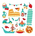 Italy decorative set vector image