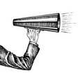 megaphone in hand sketch vector image