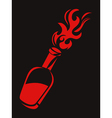 molotov stencil vector image