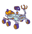 moon rover icon hand drawn style vector image
