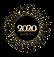 new year 2020 greeting banner celebration vector image vector image