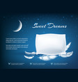 night dream pillow poster vector image vector image