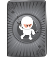 Ninja card vector image vector image
