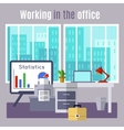 Office Flat Poster vector image vector image