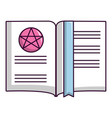 old book with magic stars icon cartoon style vector image