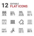 order icons vector image vector image