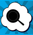 pan sign black icon in bubble on blue pop vector image