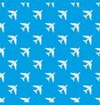 passenger airliner pattern seamless blue vector image