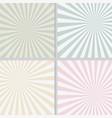 pastel retro sunshine polar coordinate background vector image