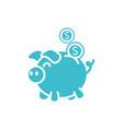 piggy bank coins money business finance color vector image