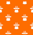 rabbit ears appearing from a top magic hat pattern vector image vector image