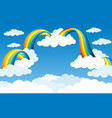 rainbow and clouds vector image vector image