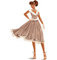 Retro Dress vector image vector image