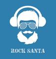 rock santa claus character vector image vector image